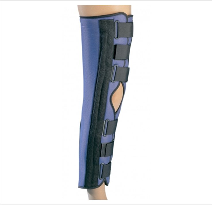 Image Of Knee Immobilizer PROCARE Small Hook and Loop Closure 20 Inch Length Left or Right Knee