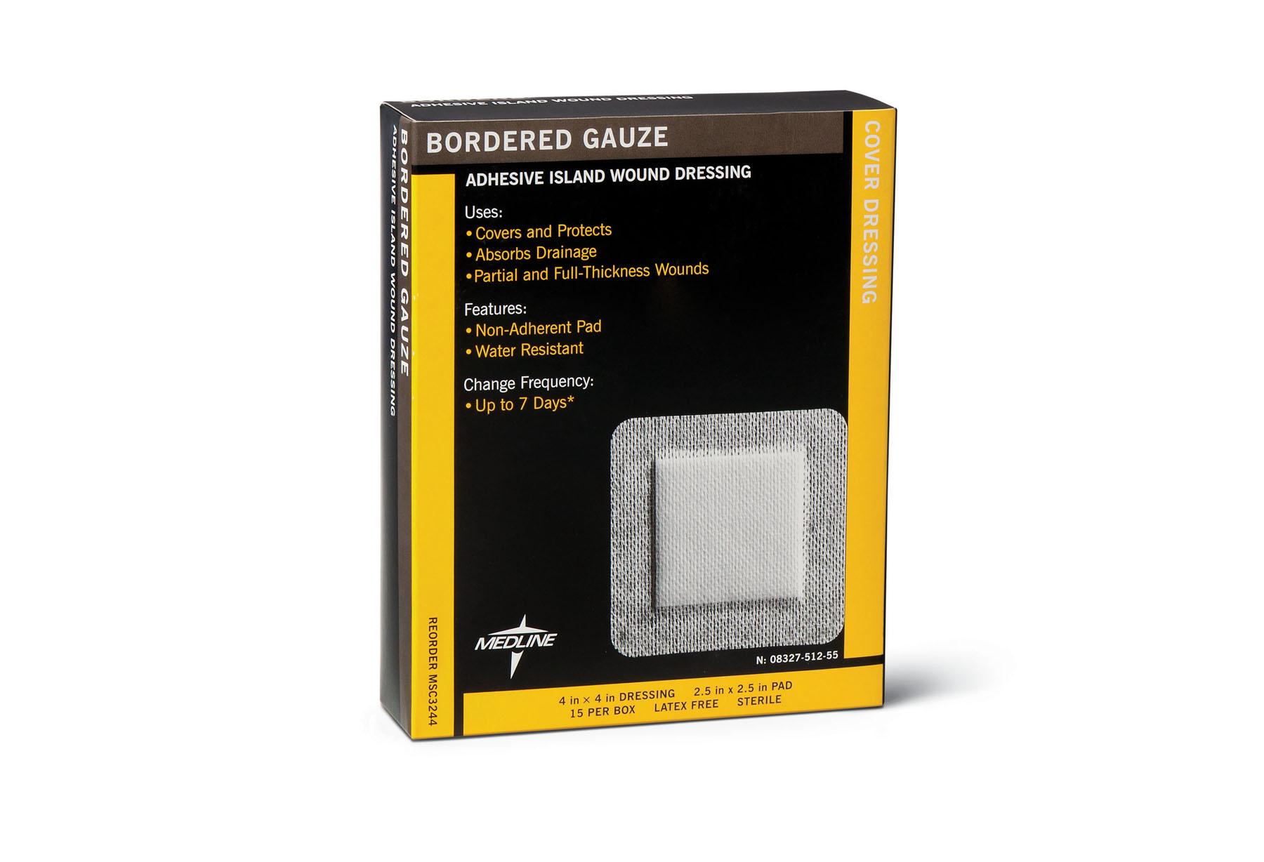 "Image Of Sterile Bordered Gauze 4"" x 4"", 2.5"" x 2.5"" Pad"