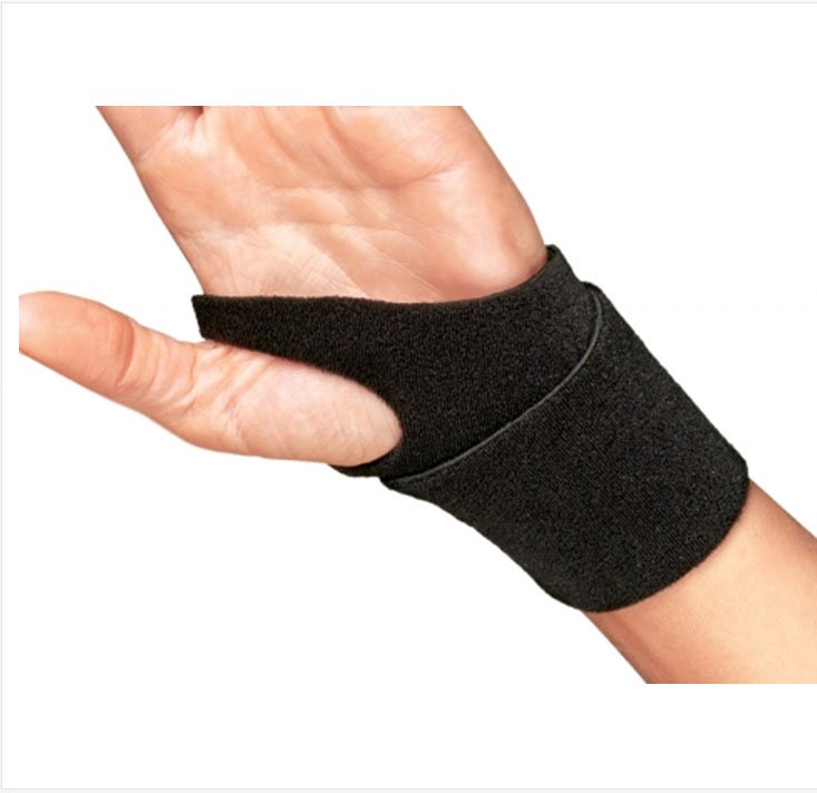 Image Of Wrist Support PROCARE Neoprene Black One Size Fits Most