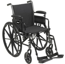 Image Of Lightweight Wheelchair Cruiser III Dual Axle Desk Length Arm Flip Back Padded Removable Arm Style Mag Wheel Black 16 Inch Seat Width 300 lbs Weight Capacity