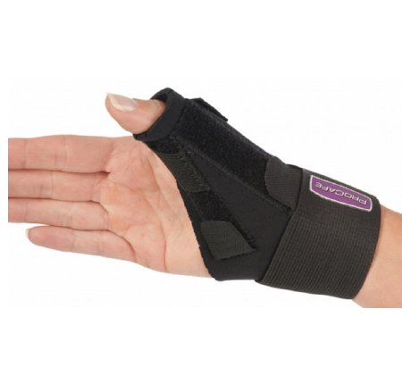 Image Of Thumb Splint ProCare Left or Right Hand Black One Size Fits Most
