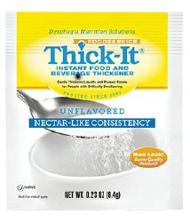Image Of Food and Beverage Thickener Thick-It 48 Gram Individual Packet Unflavored Powder Nectar Consistency