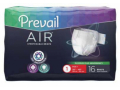 Image Of Adult Incontinent Brief Prevail Air Tab Closure Size 1 Disposable Heavy Absorbency
