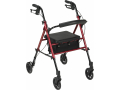 "Image Of Rollator with 6"" Wheels, Red"