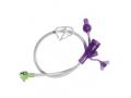 "Image Of 12"" Right Angle Purple Dual Enfit Y-Port Feeding Set"