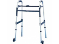"""Image Of Dual-Release Junior Paddle Walker with 5"""" Fixed Wheel"""