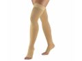 Image Of Truform 0848, Medical Stockings 30-40 Mmhg, Thigh High, Open Toe, Beige, M