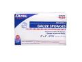 """Image Of Gauze Sponge Dukal Cotton 8-Ply 4"""" X 4"""" Square, Non-sterile"""