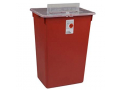 Image Of Sharps-A-Gator Large Volume Sharps Container, 10 Gallon, Red, Split Lid, Sharps Port