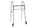 "Image Of ProBasics Economy Two-Button Steel Walker with 5"" Wheels, Adult, REPLACES ZCH1060"