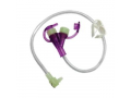 "Image Of Mini ONE Continuous Feeding Set 24"" Purple Enfit Adapter Both Ports"