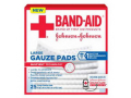 "Image Of J & J Band-Aid First Aid Gauze Pads Large 4"" x 4"", 25 Count"