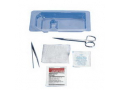 Image Of Suture Removal Tray with Plastic Forceps and Scissors