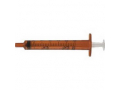 Image Of Oral Syringe with Tip Cap 1 mL, Amber (500 count)