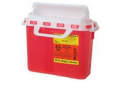 Image Of Patient/Exam Room Sharps Collector,5.4 Qt. Red