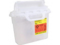 Image Of Sharps Container Horizontal Entry, Clear,5.4 Qt