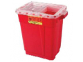 Image Of Extra-Large Sharps Collector, 9 Gallon, Red