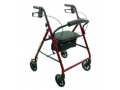 "Image Of ProBasics Steel Rollator, 6"" Wheels, Burgundy, 300 lb Weight Capacity"