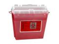 Image Of Sharps Container 5 Quart, Translucent Red
