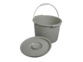 Image Of Commode Bucket With Lid & Handle