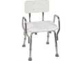 Image Of Shower Chair With Backrest, Aluminum Frame