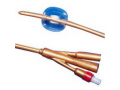 Image Of Dover 2-Way Silver-Coated Silicone Foley Catheter 24 Fr 5 cc