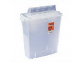 Image Of In-Room Sharps Container 12 Quart Transparent Red