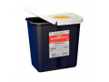 Image Of SharpSafety RCRA Hazardous Waste Container Hinged Lid with Snap Cap, Black 2 Gallon