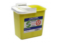 Image Of SharpSafety Chemotherapy Containers with Hinged Lid 12 Gallon, Yellow