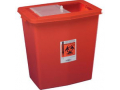 Image Of SharpSafety Large Volume Container 12 Gallon, Red