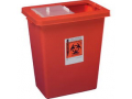 Image Of SharpSafety Sharps Container with Sliding and Sealing Gasket Lid 8 Gallon