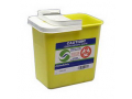 Image Of ChemoSafety Container with Hinged Lid 2 Gallon