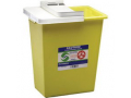 Image Of ChemoSafety Sharps Container with Hinged Lid 8 Gallon