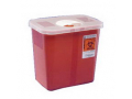 Image Of Multi-Purpose Sharps Container with Clear Hinged Lid 2 Gallon