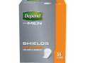 Image Of Depend Shields For Men Light Absorbency, One Size Fits Most
