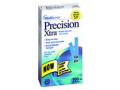 Image Of Blood Glucose Test Strips Precision Xtra 6 Microliter Sample Size 5 Seconds End Fill or Top Fill