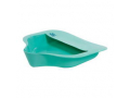 "Image Of Bariatric Bed Pan with Anti-splash 15"" x 14-1/4"" W x 3"" H, Mint Green, Plastic"