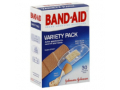 Image Of Adhesive Strip Band-Aid Fabric / Plastic Assorted Colors Sizes Clear / Tan Sterile