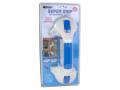 Image Of Suction Tub Bar 11-1/2 Inch White / Blue