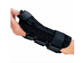 Image Of Wrist Splint PROCARE ComfortFORM With Abducted Thumb Foam / Lycra Left Hand Black Small