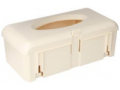 Image Of Glove Box Holder BD Horizontal Mount 1-Box Ivory 4-1/4 X 7 X 12 Inch Plastic