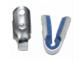Image Of Finger Splint Padded Aluminum / Foam Left or Right Hand Silver / Blue Medium