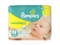 Image Of Baby Diaper Pampers Swaddlers Tab Closure Newborn Disposable Heavy Absorbency