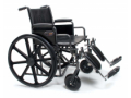 Image Of Bariatric Wheelchair Traveler HD Heavy Duty Full Length Arm Removable Arm Style Mag Wheel Black 24 Inch Seat Width 500 lbs Weight Capacity
