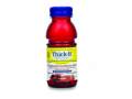 Image Of Thickened Beverage Thick-It AquaCareH2O 8 oz Bottle Cranberry Flavor Ready to Use Nectar Consistency