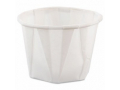 Image Of Souffle Cup Solo 1 oz White Paper Disposable