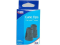"""Image Of Black Tips, Fits 1"""" Diam Wood Canes"""