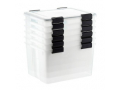 Image Of Weathertight Tote with Lid, Clear, 46.6 qt.