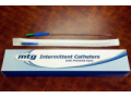 "Image Of MTG Straight Tip Male Intermittent Catheter, 14 Fr, 16"" Vinyl Catheter with Handling Sleeve"