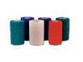 Image Of Cohesive Bandage CoFlex NL 2 Inch X 5 Yard Standard Compression Self-adherent Closure Teal / Blue / White / Purple / Green NonSterile